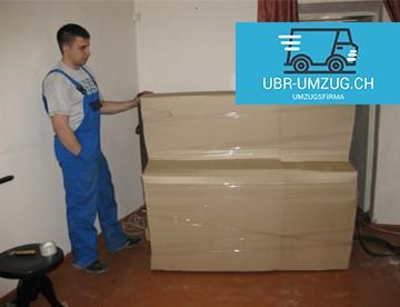 UBR UMZUG Kloten - Klavier Verpackung Karton