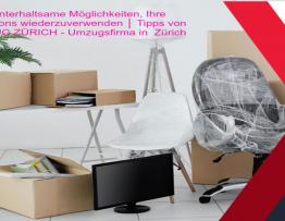 Einige unterhaltsame Möglichkeiten, Ihre Umzugskartons wiederzuverwenden │ Tipps von UBR UMZUG ZÜRICH - Umzugsfirma in Zürich