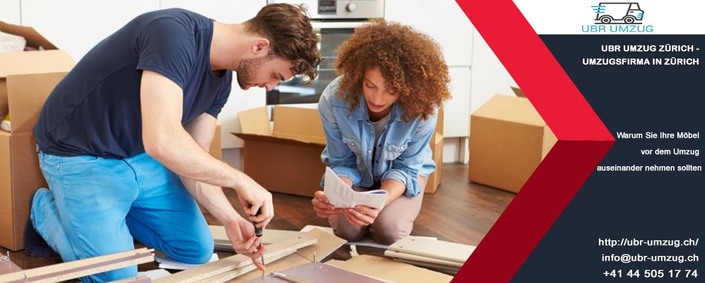 Warum Sie Ihre Möbel vor dem Umzug auseinander nehmen sollten   Ratschläge von UBR UMZUG Uster : Umzugsfirma in Uster